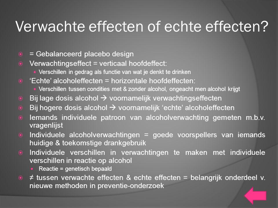 Verwachte effecten of echte effecten