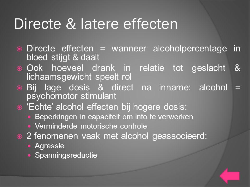 Directe & latere effecten