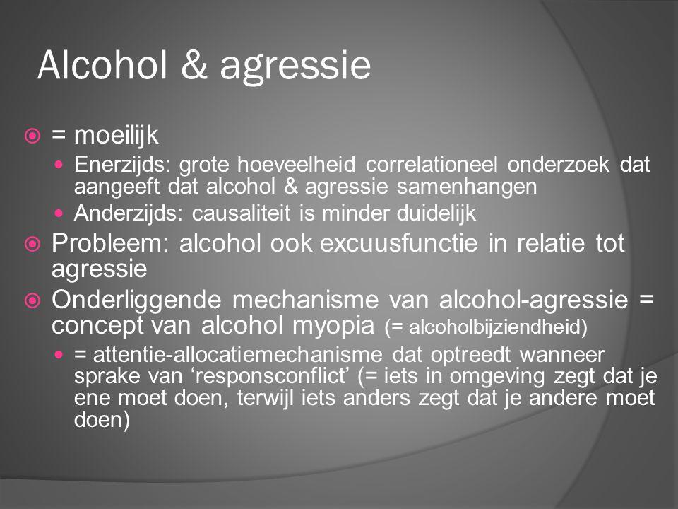Alcohol & agressie = moeilijk