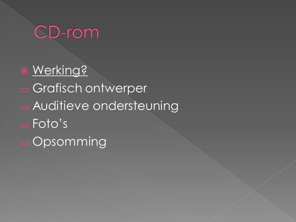 CD-rom Werking Grafisch ontwerper Auditieve ondersteuning Foto's