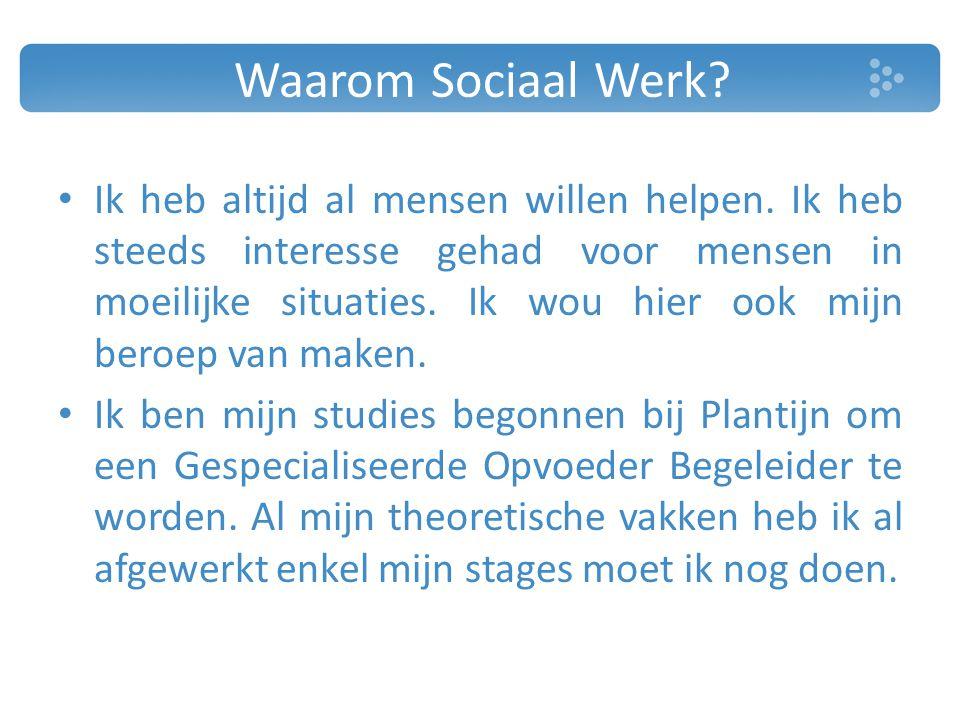 Waarom Sociaal Werk