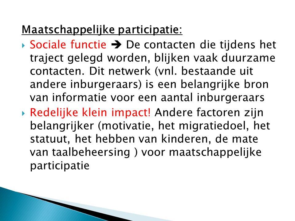 Maatschappelijke participatie: