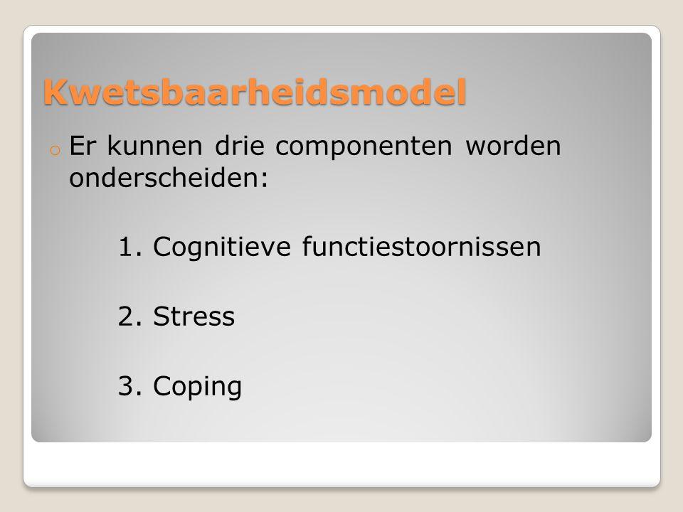 Kwetsbaarheidsmodel Er kunnen drie componenten worden onderscheiden: