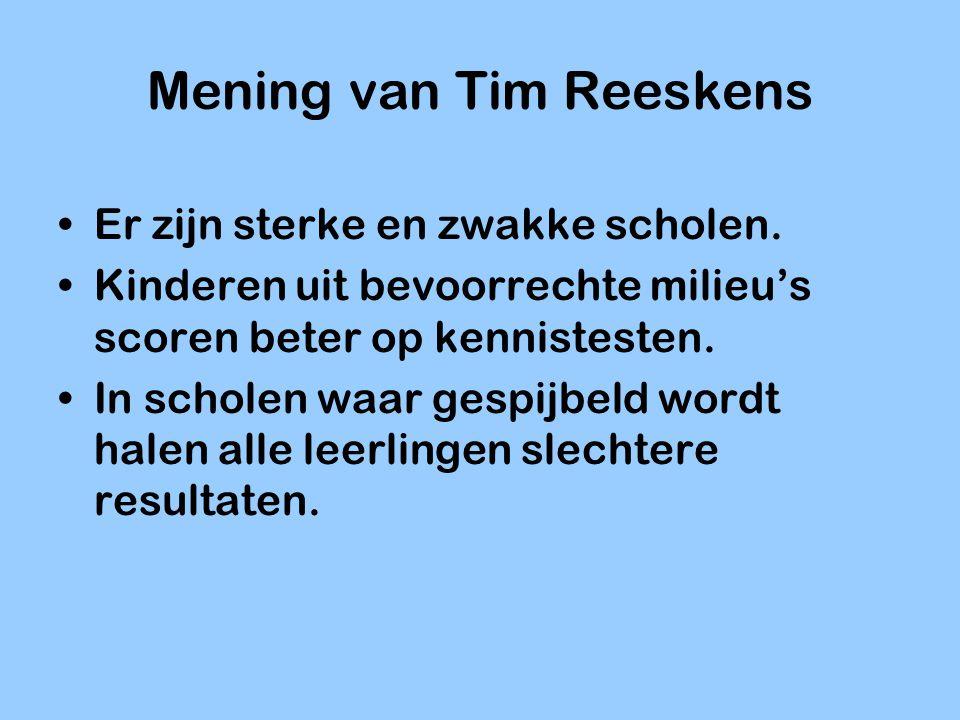 Mening van Tim Reeskens