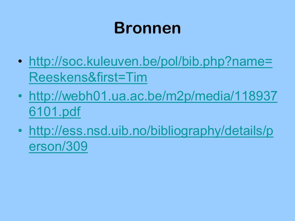Bronnen http://soc.kuleuven.be/pol/bib.php name=Reeskens&first=Tim