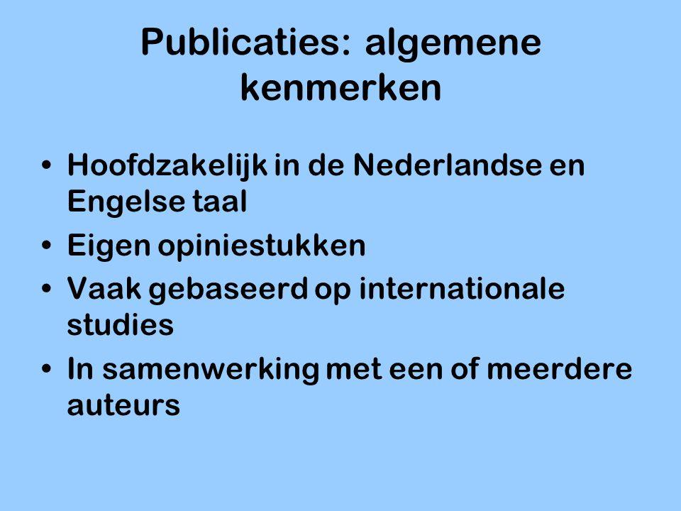 Publicaties: algemene kenmerken