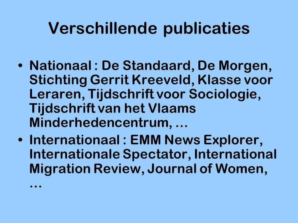Verschillende publicaties