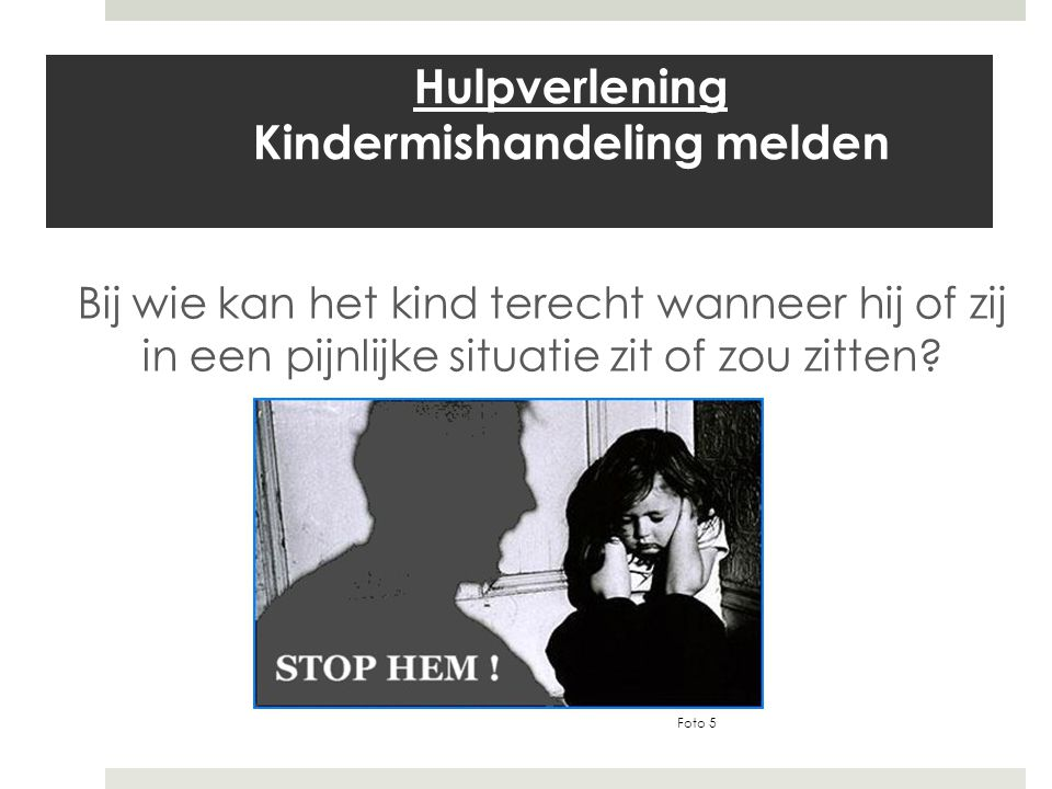Hulpverlening Kindermishandeling melden