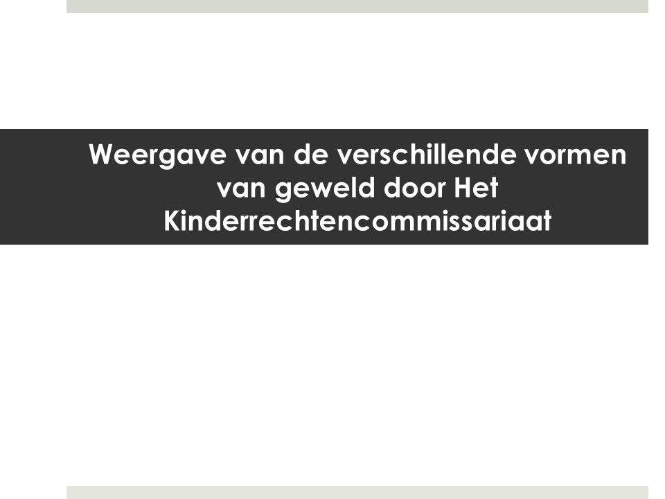 Weergave van de verschillende vormen van geweld door Het Kinderrechtencommissariaat