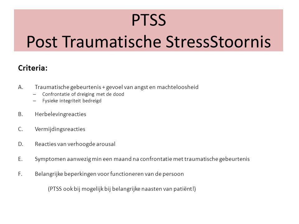 PTSS Post Traumatische StressStoornis