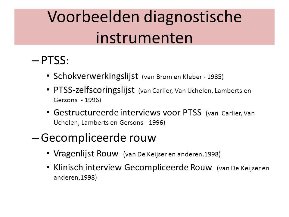 Voorbeelden diagnostische instrumenten