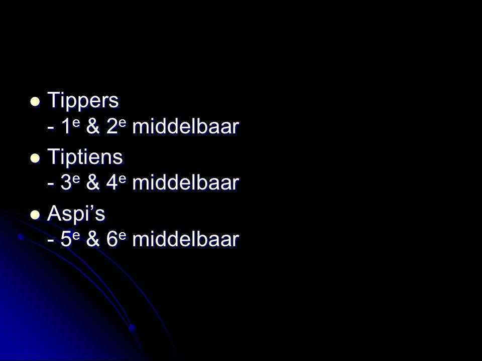Tippers - 1e & 2e middelbaar