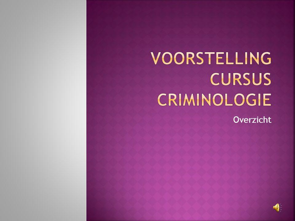 Voorstelling cursus criminologie