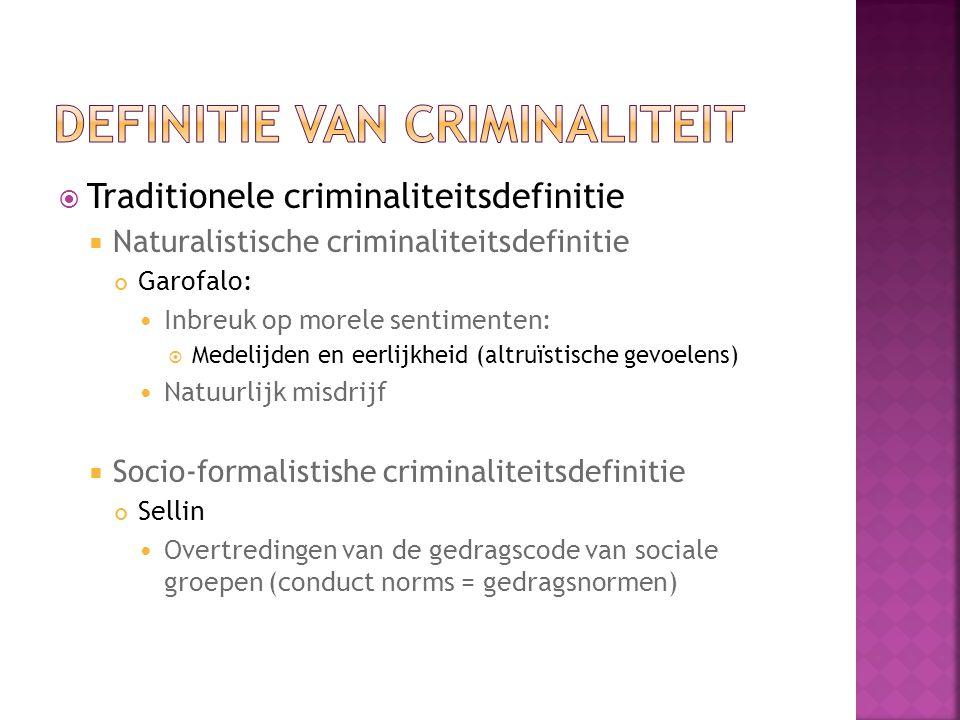 Definitie van criminaliteit