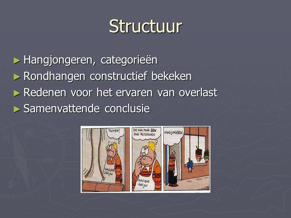 Structuur Hangjongeren, categorieën Rondhangen constructief bekeken