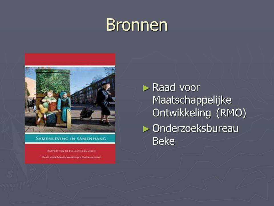 Bronnen Raad voor Maatschappelijke Ontwikkeling (RMO)