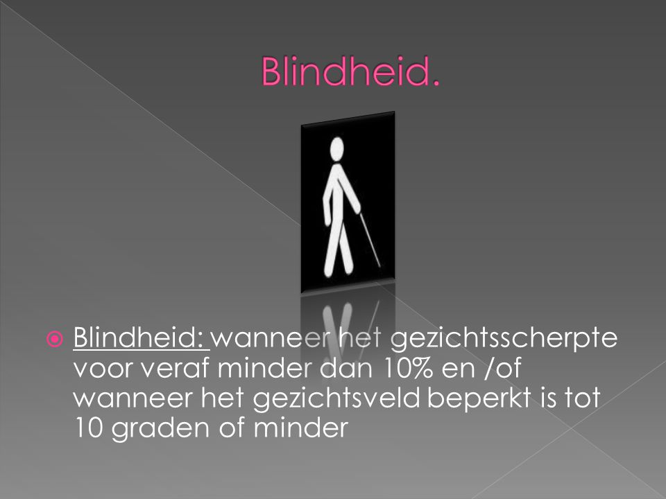 Blindheid.