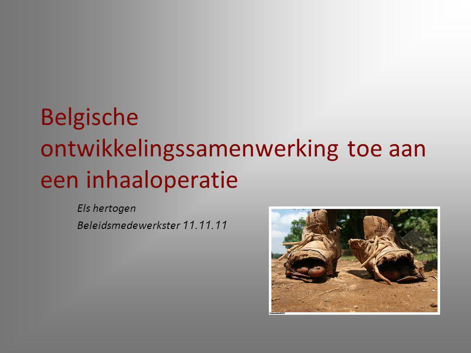 Belgische ontwikkelingssamenwerking toe aan een inhaaloperatie