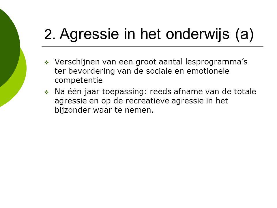 2. Agressie in het onderwijs (a)