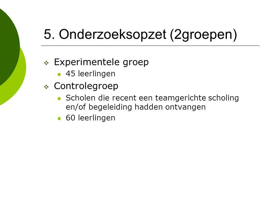 5. Onderzoeksopzet (2groepen)