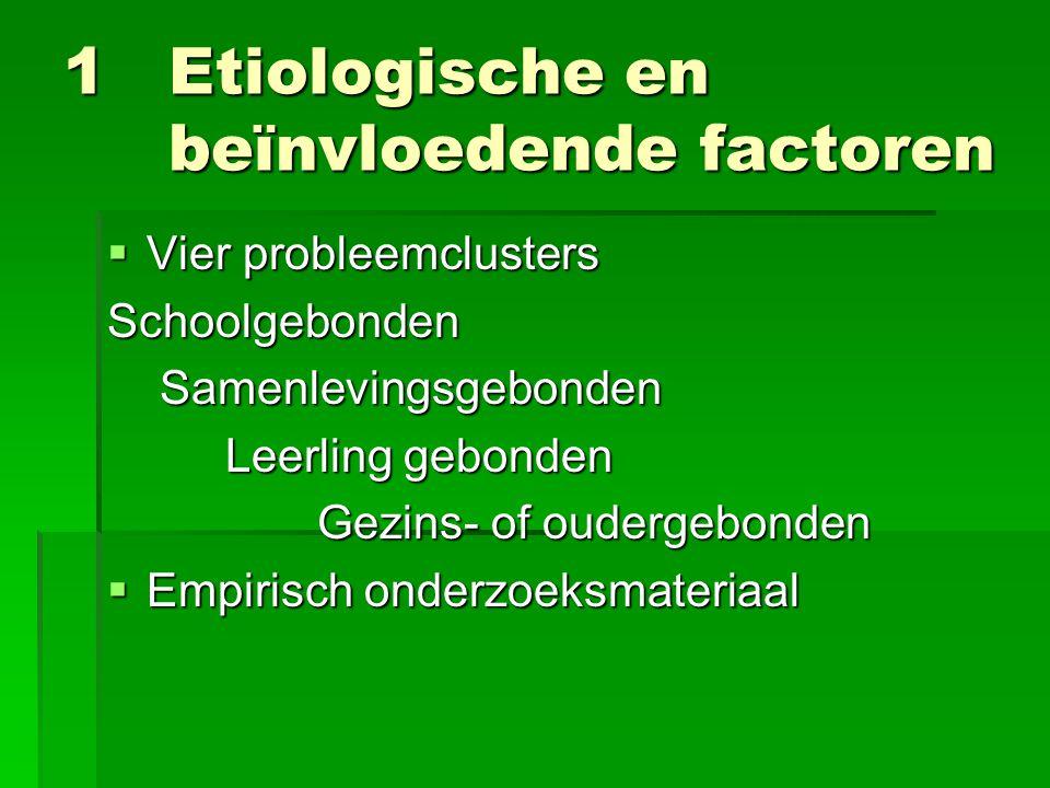 1 Etiologische en beïnvloedende factoren