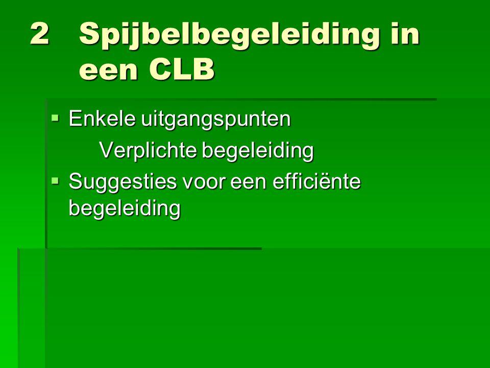 2 Spijbelbegeleiding in een CLB