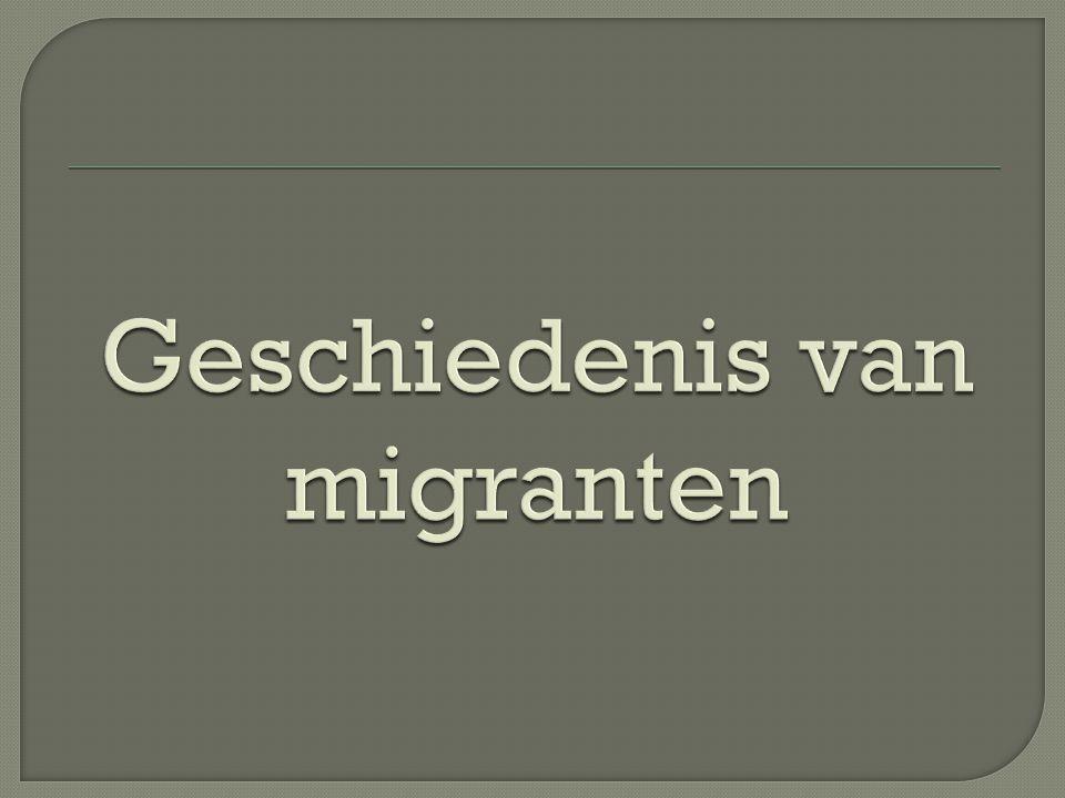 Geschiedenis van migranten