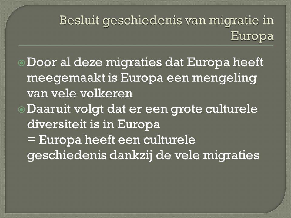 Besluit geschiedenis van migratie in Europa