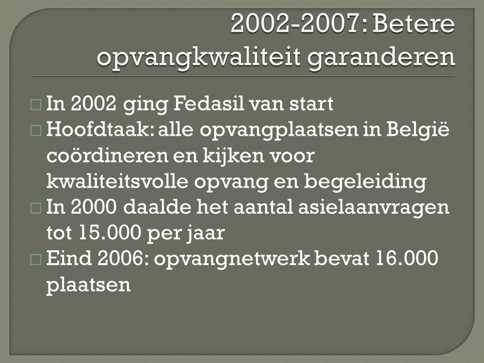 2002-2007: Betere opvangkwaliteit garanderen