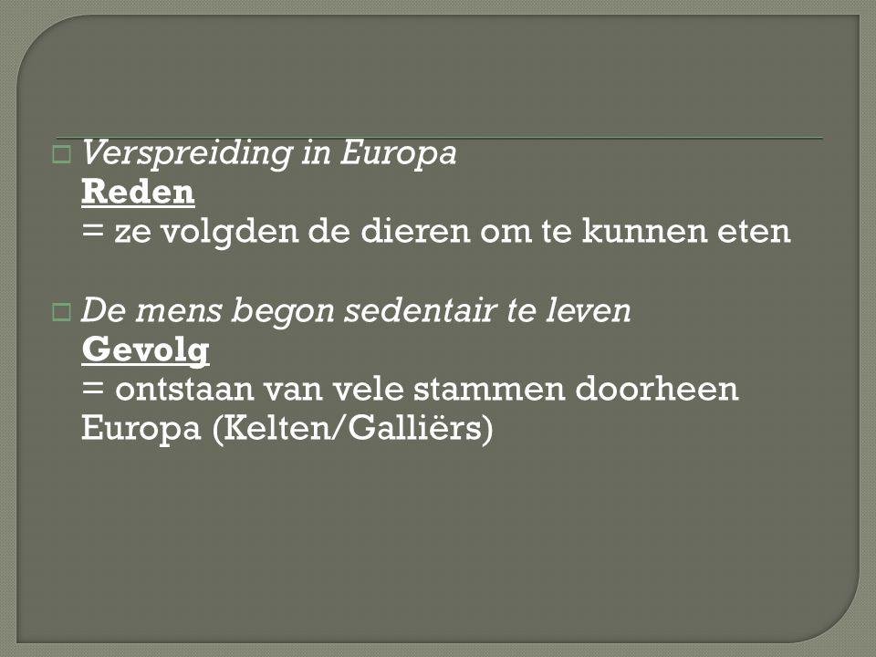 Verspreiding in Europa