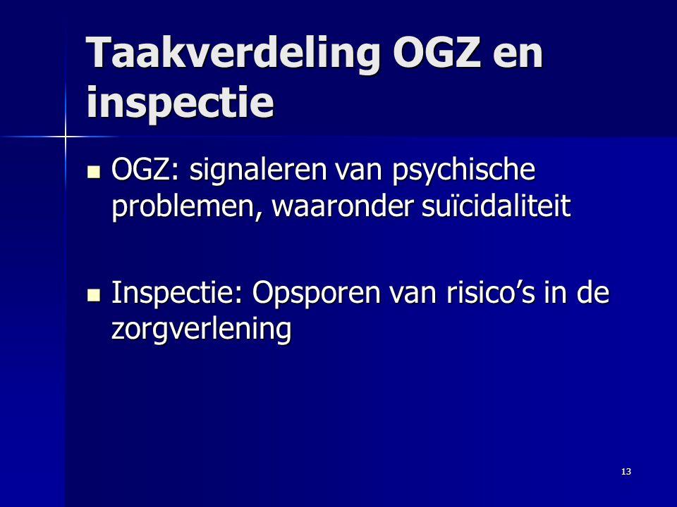Taakverdeling OGZ en inspectie
