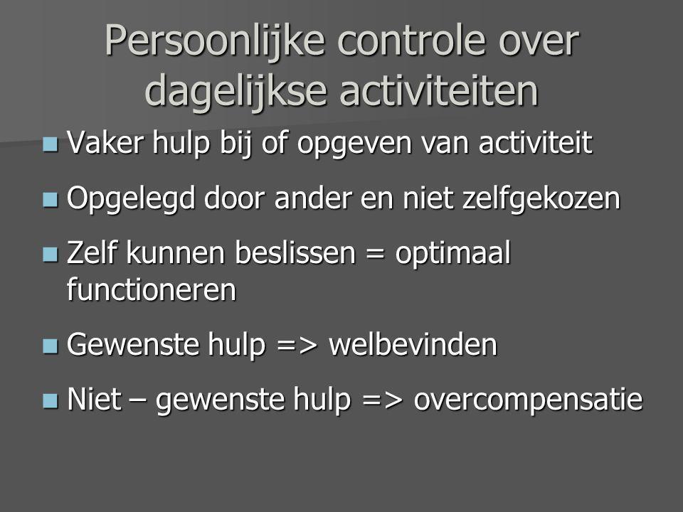 Persoonlijke controle over dagelijkse activiteiten