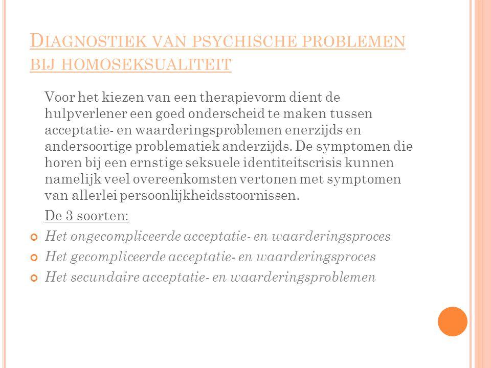 Diagnostiek van psychische problemen bij homoseksualiteit