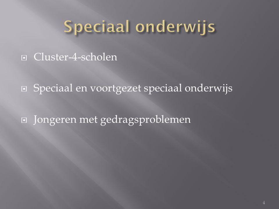 Speciaal onderwijs Cluster-4-scholen