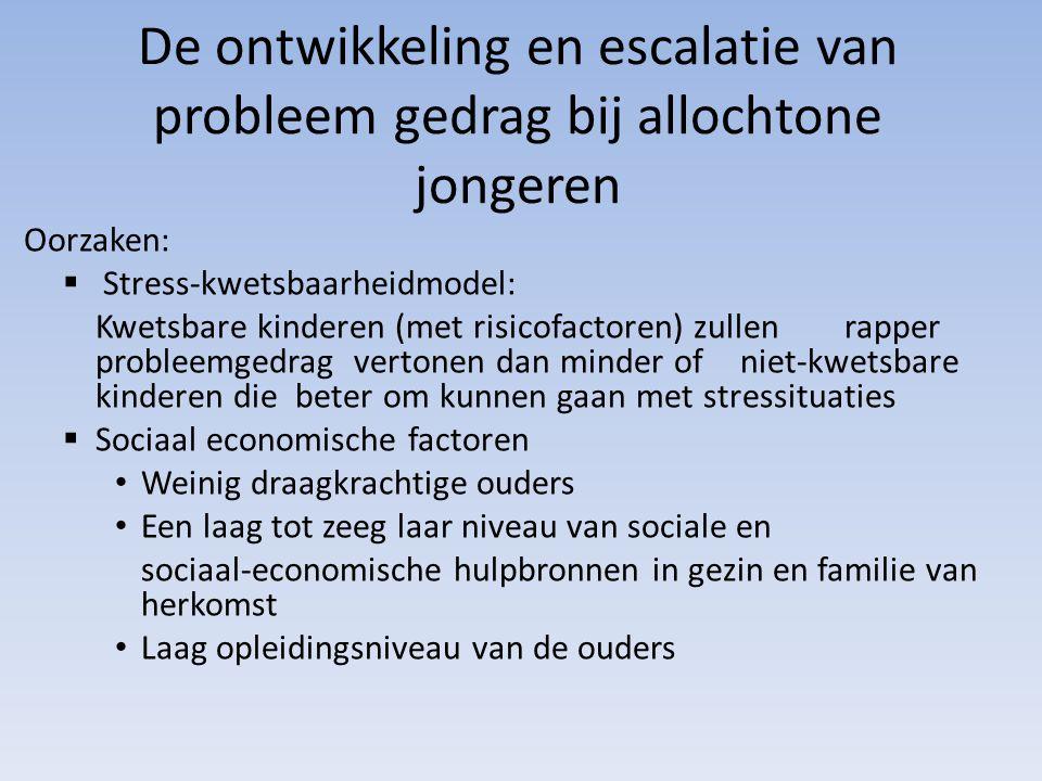 De ontwikkeling en escalatie van probleem gedrag bij allochtone jongeren