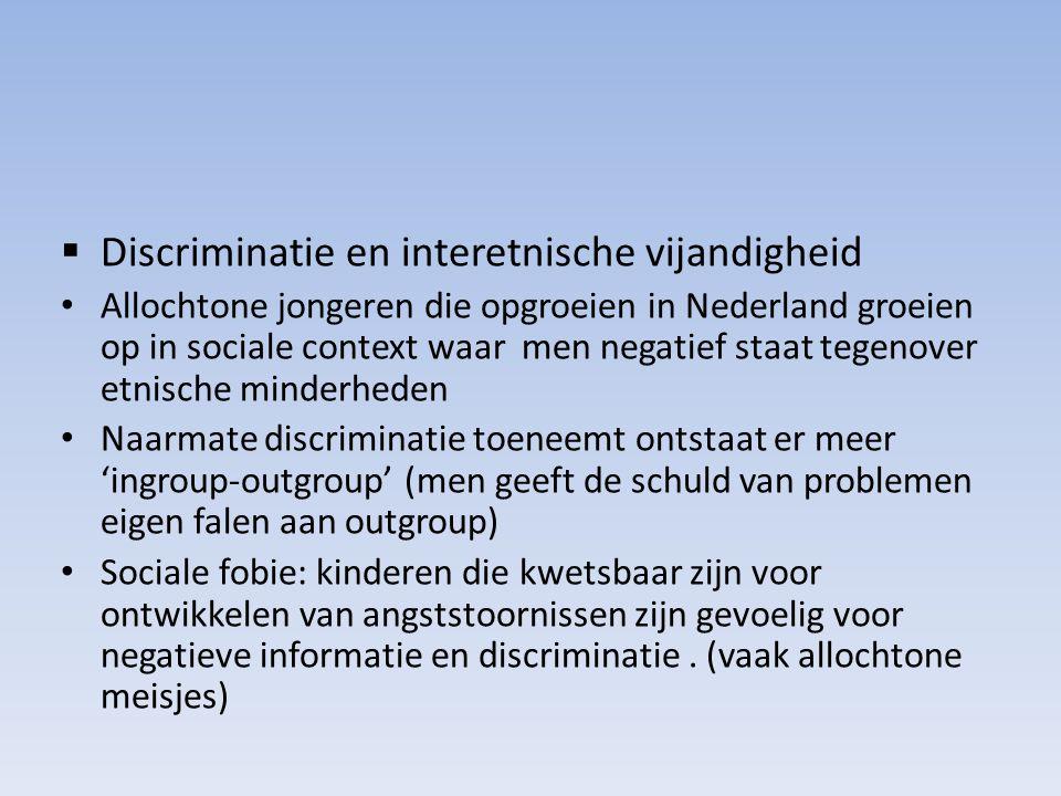 Discriminatie en interetnische vijandigheid