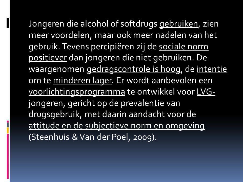 Jongeren die alcohol of softdrugs gebruiken, zien meer voordelen, maar ook meer nadelen van het gebruik.