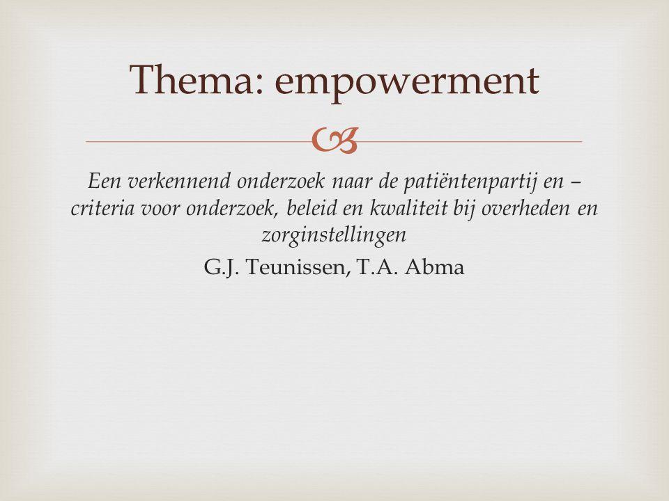 Thema: empowerment