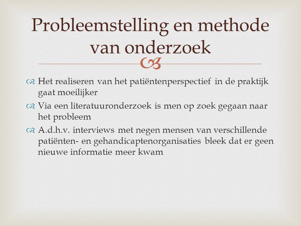 Probleemstelling en methode van onderzoek