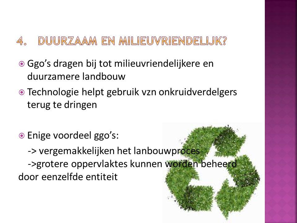 4. Duurzaam en milieuvriendelijk