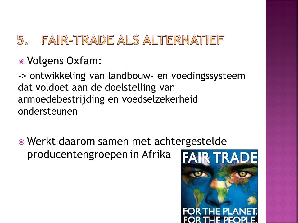 5. Fair-trade als alternatief