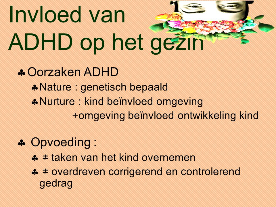 Invloed van ADHD op het gezin