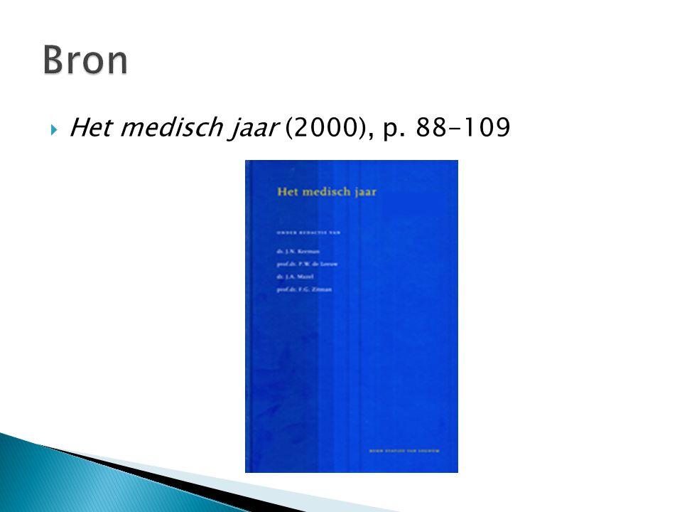 Bron Het medisch jaar (2000), p. 88-109