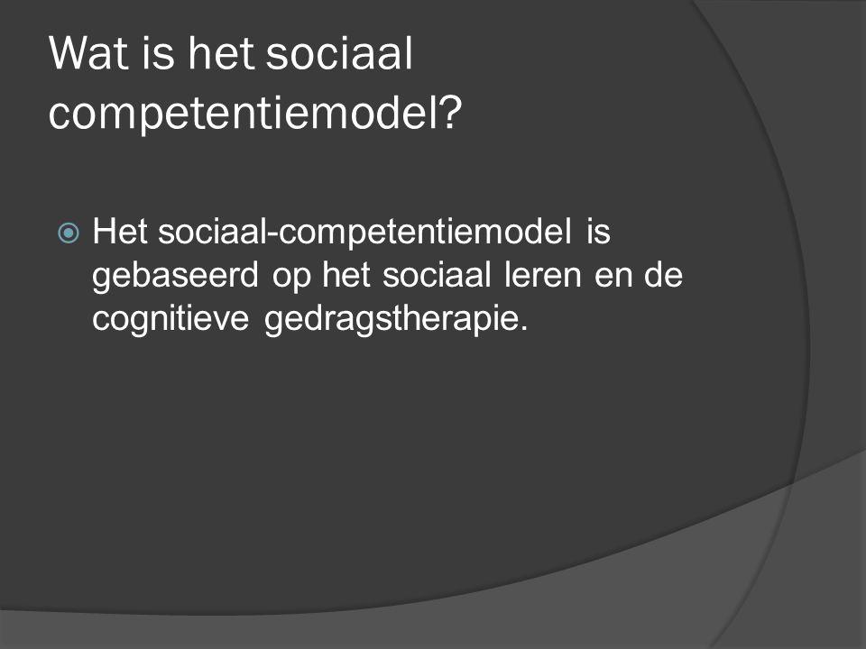 Wat is het sociaal competentiemodel