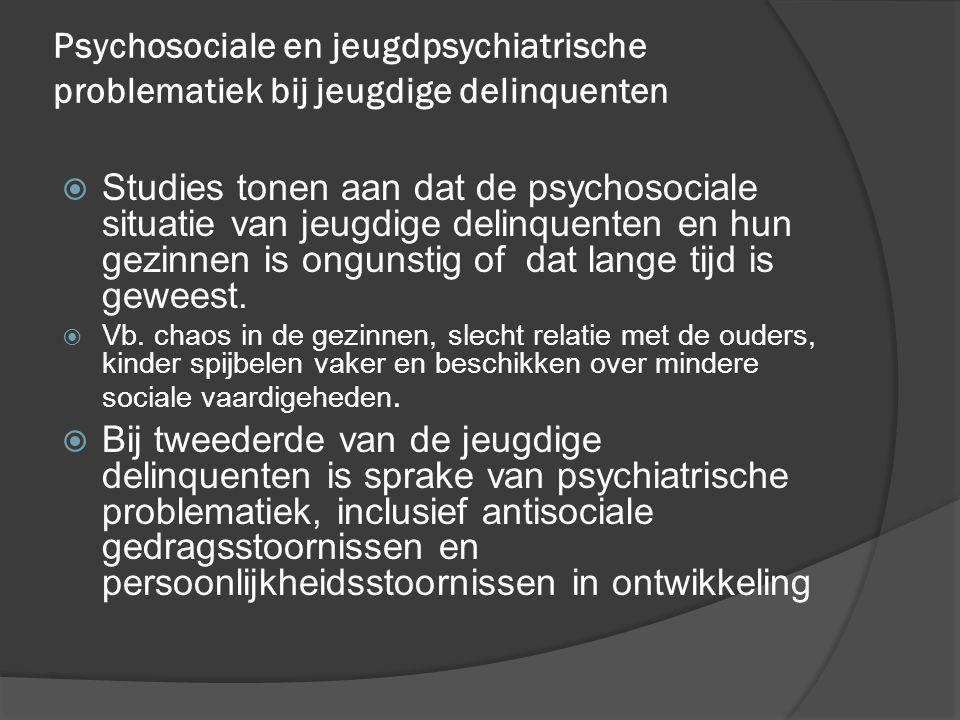Psychosociale en jeugdpsychiatrische problematiek bij jeugdige delinquenten