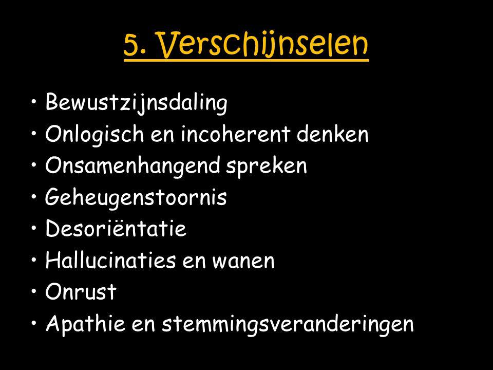 5. Verschijnselen