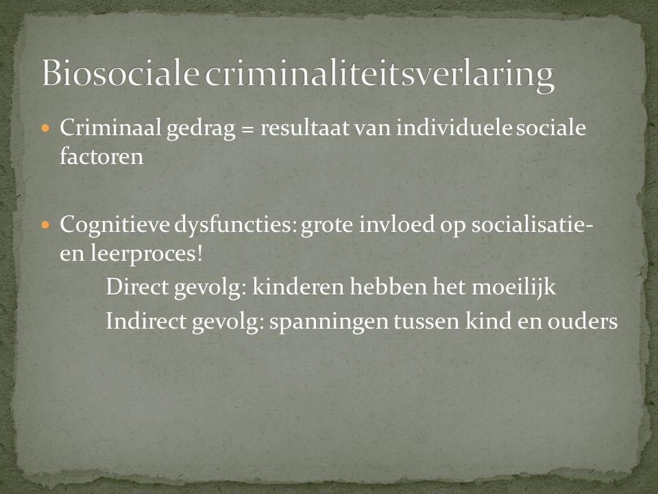 Biosociale criminaliteitsverlaring