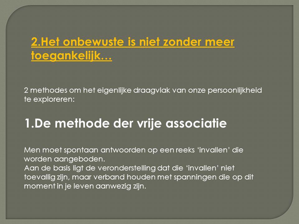 1.De methode der vrije associatie