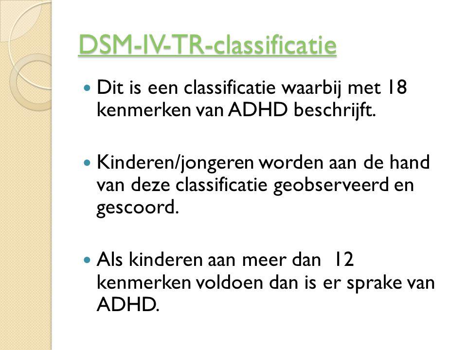 DSM-IV-TR-classificatie