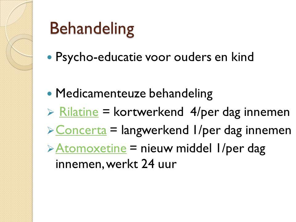 Behandeling Psycho-educatie voor ouders en kind